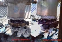 高压锅炉出气管泄漏堵漏